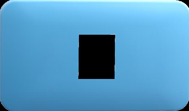 時尚馬卡龍系列晴天藍/一孔蓋板組 1