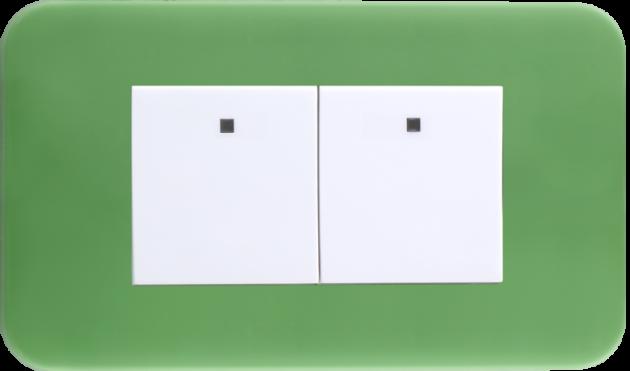時尚馬卡龍系列青蘋綠/二開關蓋板組 1