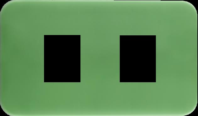 時尚馬卡龍系列青蘋綠/二孔蓋板組 1