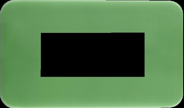 時尚馬卡龍系列青蘋綠/三孔蓋板組 1