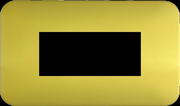 時尚馬卡龍系列檸檬黃/三孔蓋板組 1