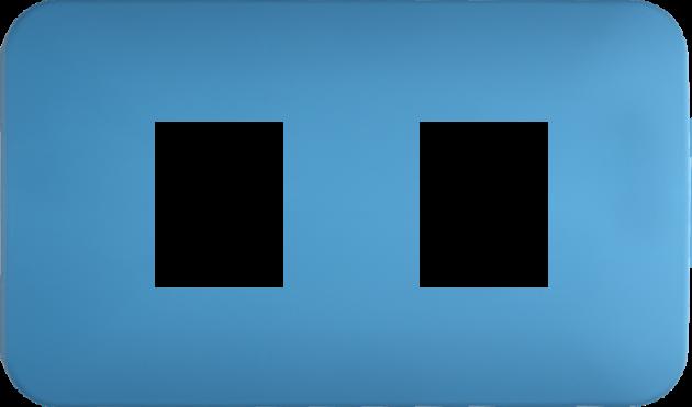 時尚馬卡龍系列晴天藍/二孔蓋板組 1