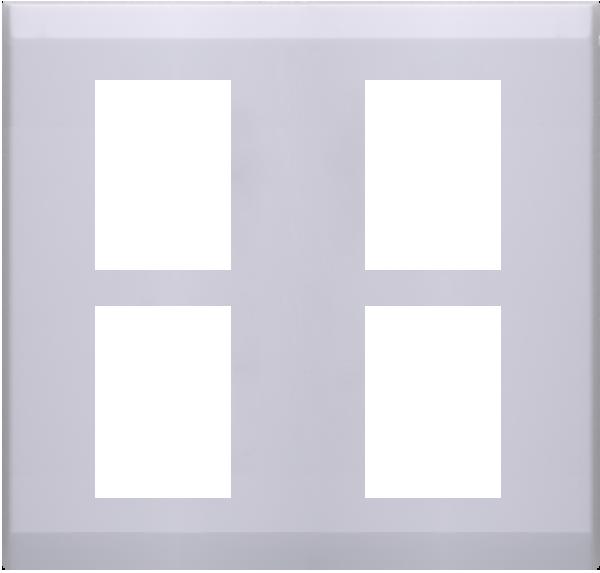 ECO基本款/二聯四孔蓋板 1